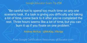 Certification Tip - Andrea McKay