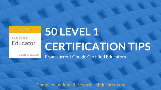 50 Level 1 Certification Tips